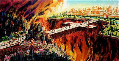 William Ressler THE BRIDGE 16x30 Way of Cross Paper Art Print Heaven and Hell | eBay