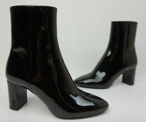 da1ff39f Details about YSL Saint Laurent Women's Black Patent Leather Loulou Bootie  Size 36