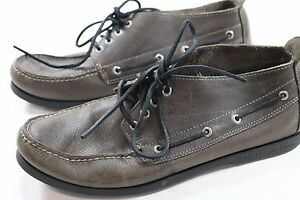 a4308230333 Mens Sperry Top Sider 12 M Brown Boat Shoes Leather Ankle Boots A032 ...