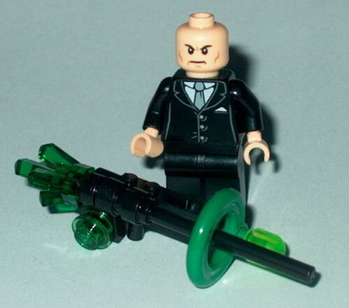 SUPER HERO #18 Lego Lex Luther w//Kryptonite Deconstructor Gun 6862 30164 Genuine