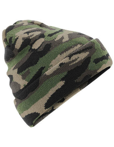Camo Cuffed Beanie Camouflage Wool Hat Winter Hat Army Camo Bundeswehr Military