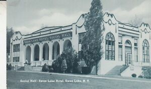 Swan-Lake-Hotel-NY-Postcard-Social-Hall-photo-RPPC