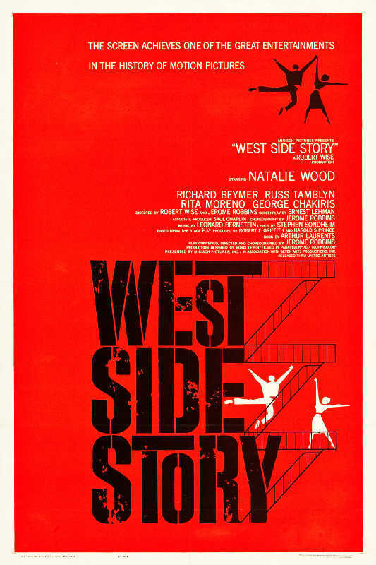 Vintage West Side Story Poster A3//A4 Print