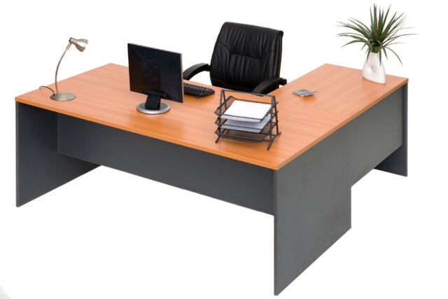 OFFICE DESK & RETURN study student computer home office furniture office desks