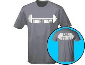 Image is loading Sore-Today-Strong-Tomorrow-Gym-Workout-Mens-Weightlifting- 2416110570