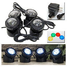 4-LED Super Bright Outdoor Underwater Pond Fountain Spot Light Kits 4-color Lens