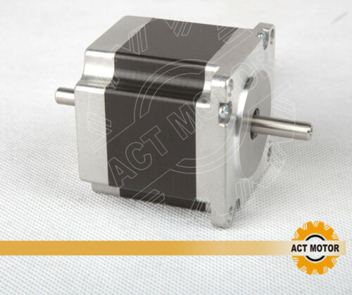 3PCS 23HS6620B Dual Shaft Nema23 1.8° Stepper Motor φ6.35mm 56mm 1.26Nm 2A 6Wire