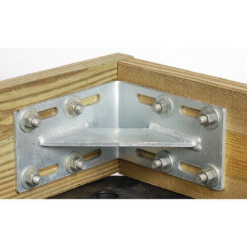 "Tiedown 26524 Dock Hardware Inside Corner Connector L Bracket 8.25/""L x 5/"""