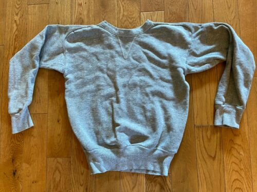 VTG 40s-50s Brent Cotton Gray SweatShirt XS Mens B