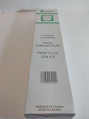 5000//Case Genpak F050 Harvest Paper .5 oz Compostable Souffle//Portion Cup 6 Cases
