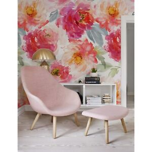 Details About Boho Removable Wallpaper Flowers Peonies Wall Mural Floral Peel And Stick Art