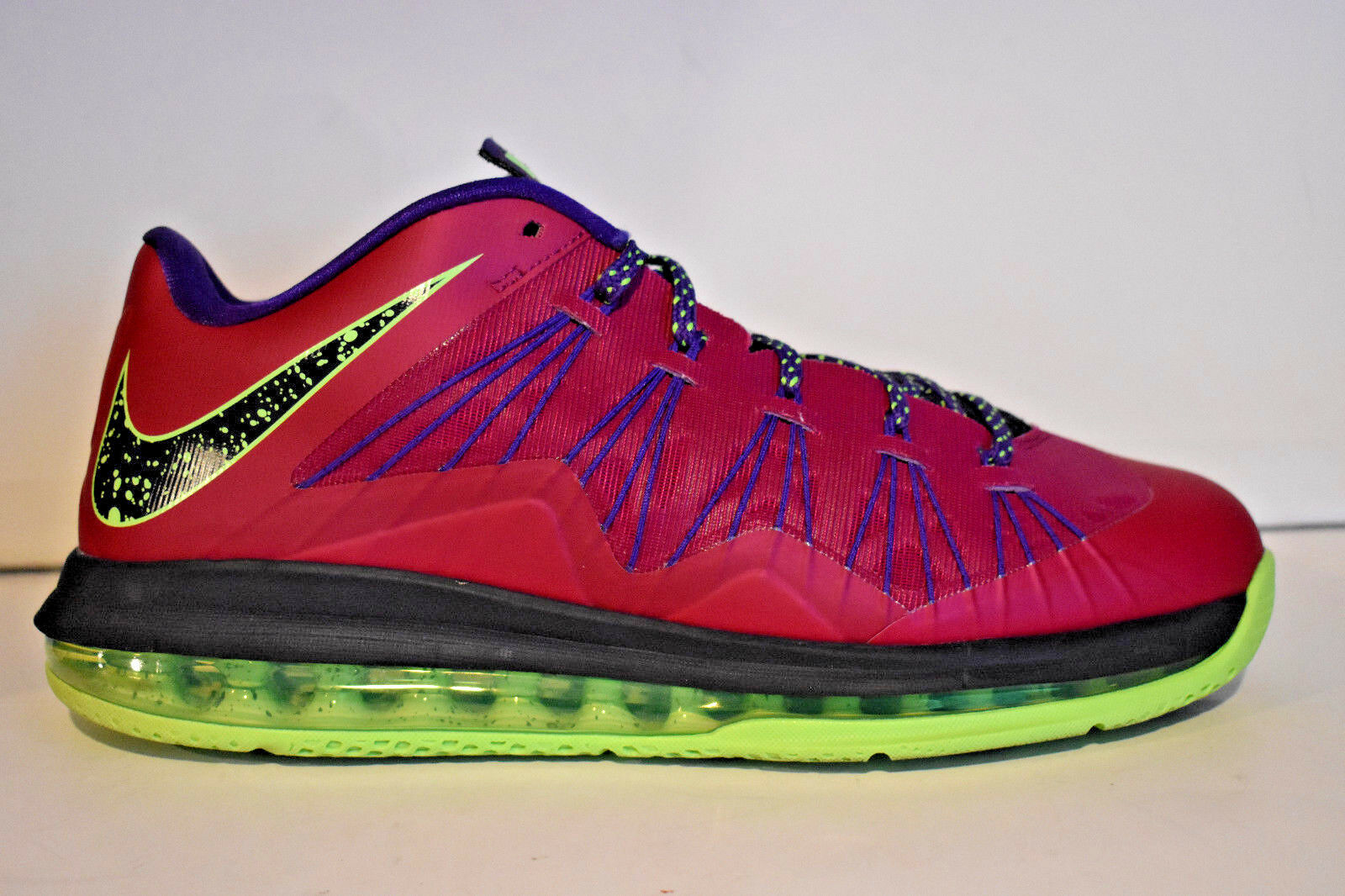 165 NIKE AIR MAX LEBRON X 10 LOW RASPBERRY LIME GREEN 10.5 579765-601 DUNKMAN