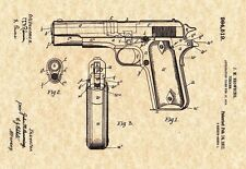 Patent Print - M1911 Browning Pistol - 1911. Art Print - Ready To Be Framed!