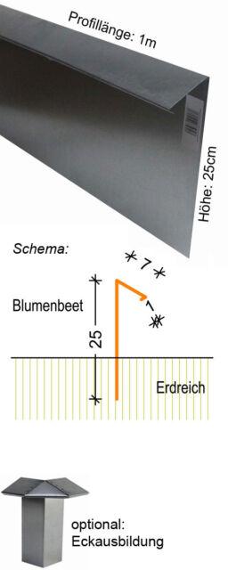 Profi Schneckenzaun 100x25cm Schnecken Zaun Schneckenblech Abwehr Schneckeabwehr