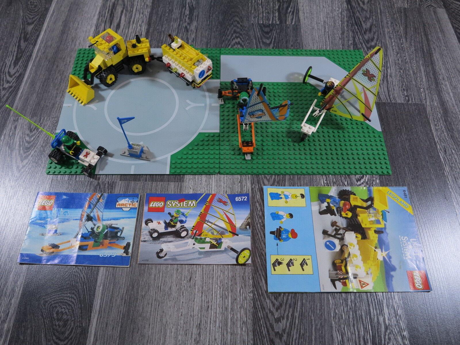 LEGO LEGOLAND 6481,6579,6572 Leit+Sound Baustelle, Bagger, Radlader 2-St.Platten