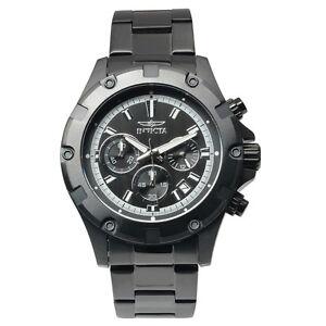 Invicta-15608-Men-039-s-Specialty-Chronograph-Black-IP-Steel-Quartz-Watch-New