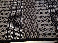 "NEW Designer Black Stretch  Lace Fabric 60""151cm High Class Fashion Lace"