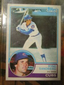 1983 Topps Ryne Sandberg Rookie Card 83 Ebay