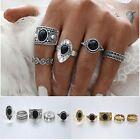 Retro 5Pcs/Set Boho Nature Stone Above Knuckle Ring Midi Finger Rings Jewelry