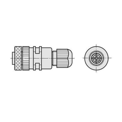 Sick Kabeldose DOS-1204-G Steckverbinder 6007302 Kabeldose