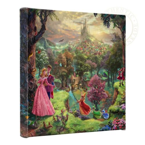 Thomas Kinkade Disney Sleeping Beauty 14 x 14 Gallery Wrapped Canvas