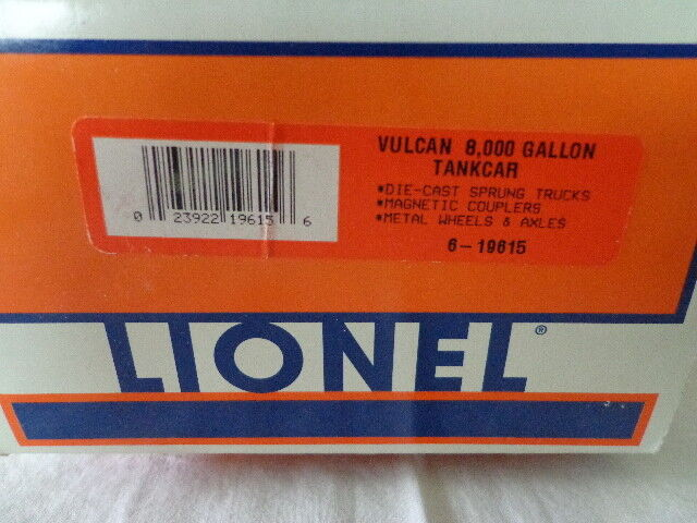 LIONEL  O  SCALE VULCAN CHEMICALS 8000 GtuttiON SINGLE SINGLE SINGLE DOME TANK auto 28a6d0