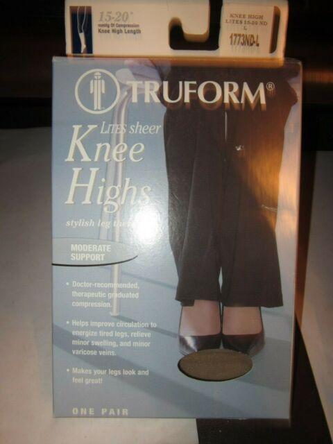 Truform Womens 15-20 mmHg Sheer Open Toe, Knee High