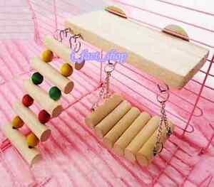 Pet Toy Hanging Walkway Bridge Ladder Toy for Pet Hamster Mice Parrot