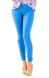 Ankle Slim Textured Solid Skinny Bennet Kelly Blue Textured Solid Slim Bennet Skinny Pulitzer Pants Caviglia 29 Kelly 29 Lilly Blue Pulitzer Pantaloni Lilly tzqgUU