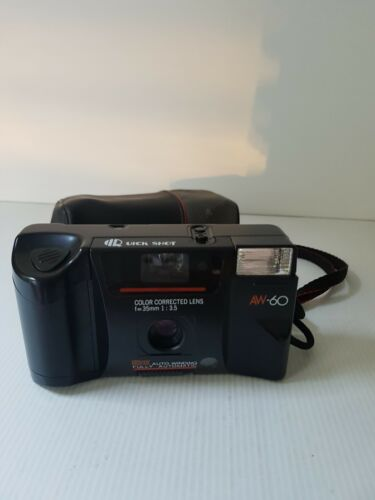Retro Quick Shot AW60 35mm film camera VGC with strap & case builtin flash