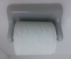 Ceramic-Toilet-Paper-TP-Holder-Sterling-Silver-Color-162-Platinum-Grey-Gloss