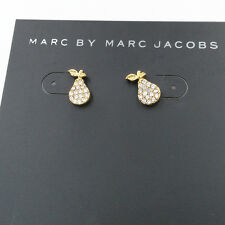 Marc by Marc Jacobs Pave Crystal Pear Stud Earrings , Gold Tone