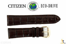 Citizen Eco-Drive H570-S074941 Original 23mm Brown Leather Watch Band AT1183-07A