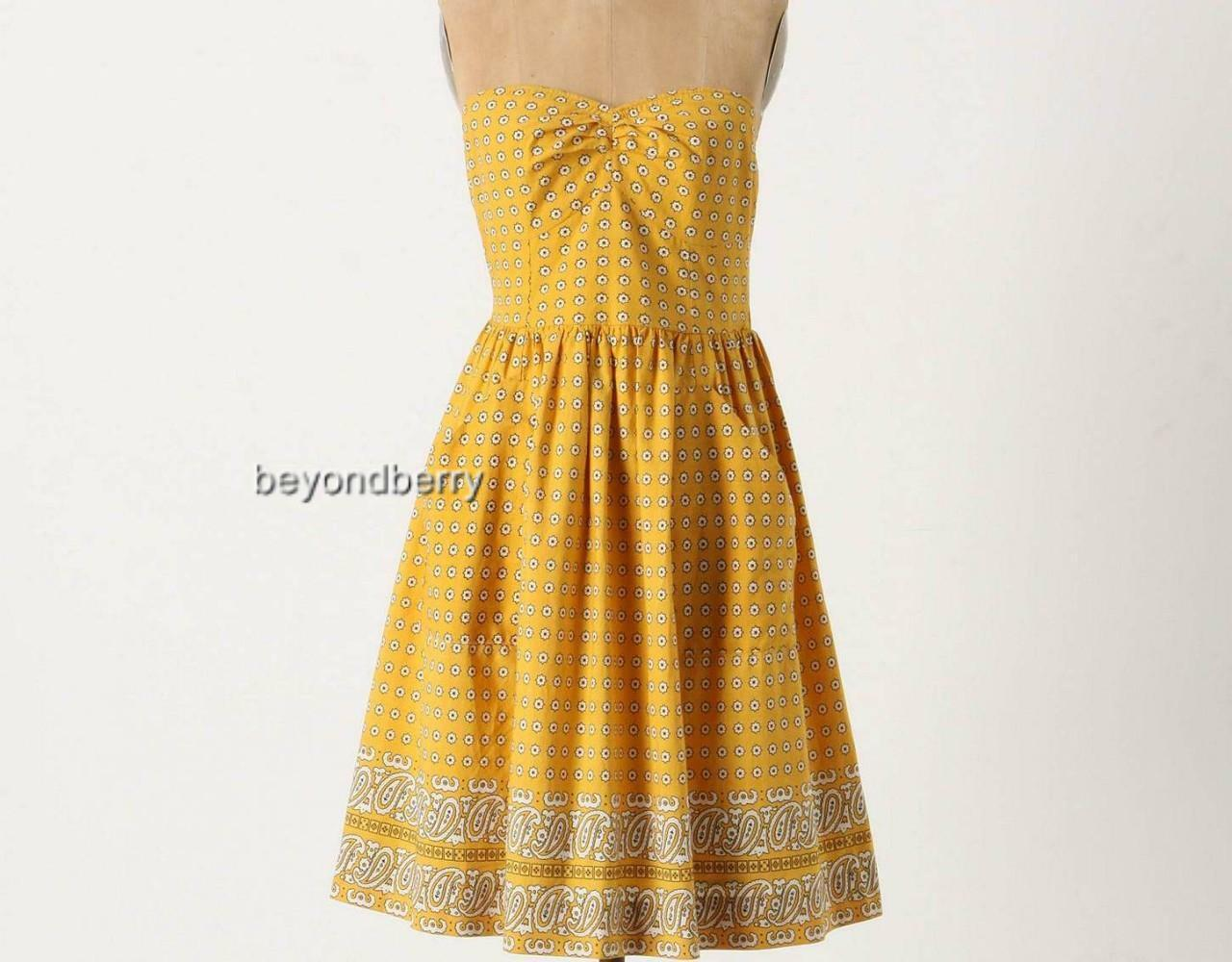 NEW Anthropologie Bright Bandana Dress by Girls from Savoy  Größe 12