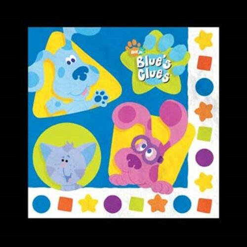 BLUE/'S CLUES SHAPES THEME PACK OF 16 LUNCH NAPKINS