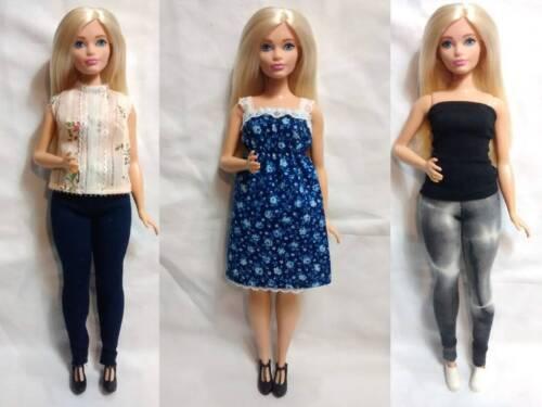 CLOTHES High Quality Handmade 5 Piece Wardrobe Lot 4 Mattel CURVY BARBIE #18