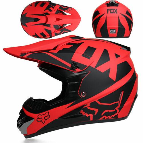 3 Gifts Motocross Fox Helmet Motorcycle Off-road Atv Racing Full Face Helmet