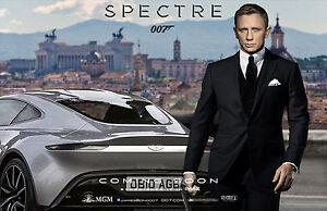 SPECTRE POSTER JAMES BOND DANIEL CRAIG AUTO CAR ASTON MARTIN - James bond aston martin db10