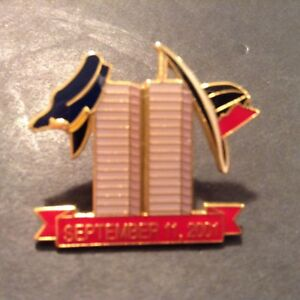 NYPD-amp-NYFD-HATS-HANGING-ON-TWIN-TOWER-SEPT-11-2001-MEMORIAL-PIN-AMINCO