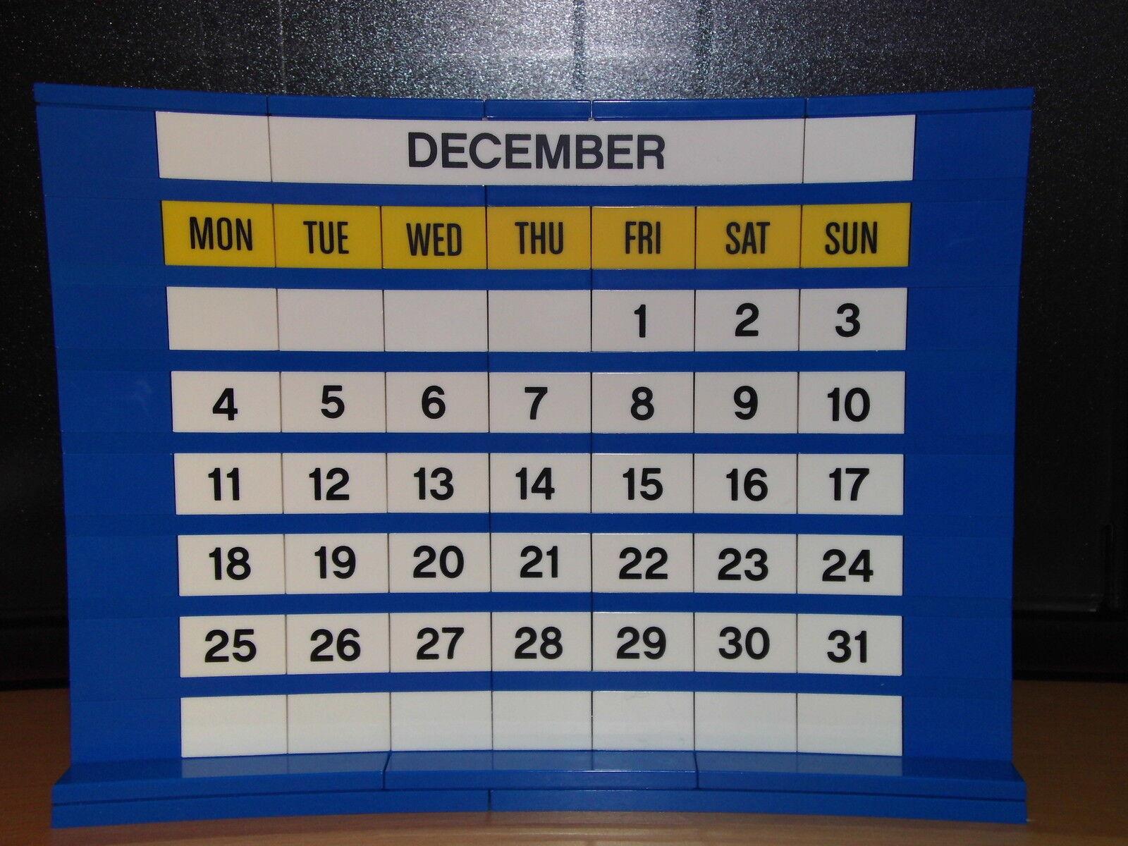 Lego Lego Lego calendario para cualquier año Azul Y Blanca  mejor precio