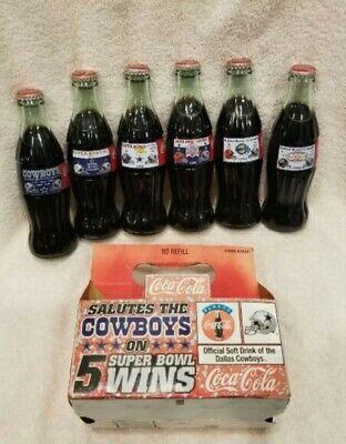 Dallas Cowboys Super Bowl XXVII Coke bottle Coca Cola Coca-Cola Buffalo Bills