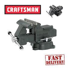 Craftsman Bench Vise 6inch Press Clamp Jaws Machine Repair Woodworking Vice Tool