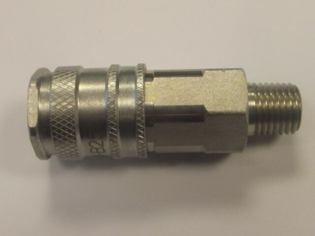 "Draper 1//4/"" Male Thread Pcl Coupling Screw Adaptor Pack Of 5 25832"