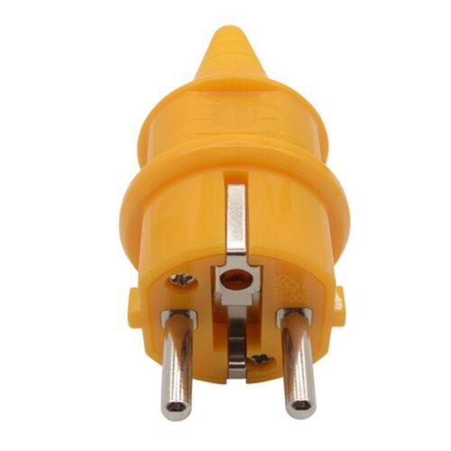 Stecker Kupplung Schutzkontakt Gummikupplung Gummistecker Gummi 16A zzy