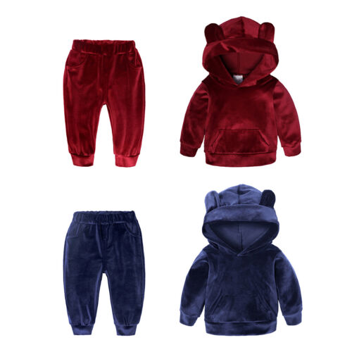 Pants Trouser Suit Outfit 2Pieces Kids Baby Girls Toddler Hoodie Jumpers Tops