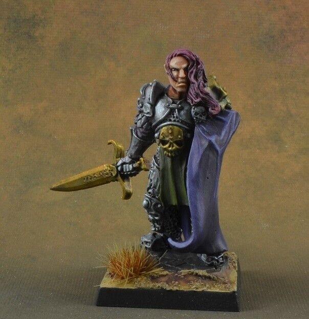 Pintado ulern, anti-Paladín de Reaper miniatures, D&D Knight, los Templarios, púrpura