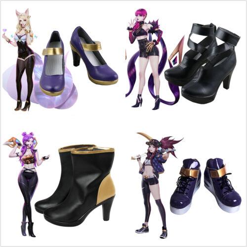 League of Legends LOL K//DA Evelynn Akali Kaisa Ahri Cosplay Shoes Customized