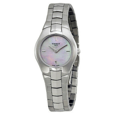 Tissot T-Round Pink Mother of Pearl Dial Stainless Steel Ladies Watch