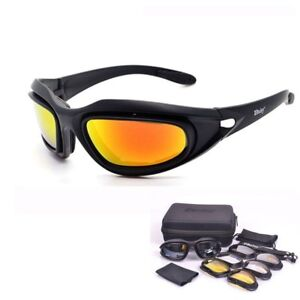 a5ab0074751 Army Goggles Desert Storm 4 Lens Outdoor Sports Hunting Sunglasses ...