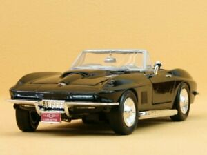 Chevrolet-Corvette-1967-Black-Motormax-1-24